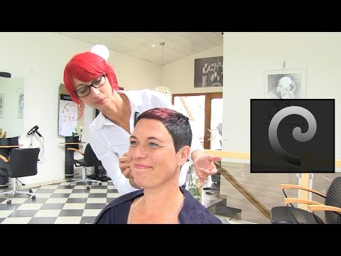 extrem short haircut with shaved nape | buzz cut women by anja herrig | eyelash