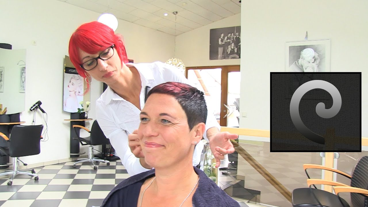 Extrem Short Haircut With Shaved Nape Buzz Cut Women By Anja