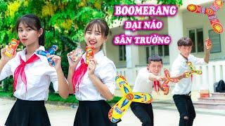 BOOMERANG ĐẠI NÁO SÂN TRƯỜNG - Ném Boomerang Cùng Bộ Tứ Siêu Quậy - Táo Xanh TV