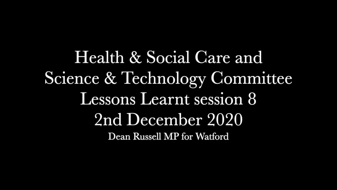 Health & Social Care Committee: Lessons learned from the pandemic