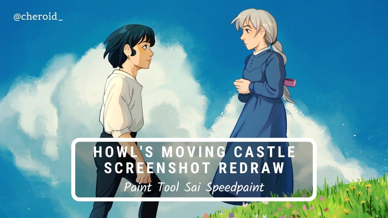 【Paint Tool SAI】 Howl's Moving Castle Screenshot Redraw Speedpaint