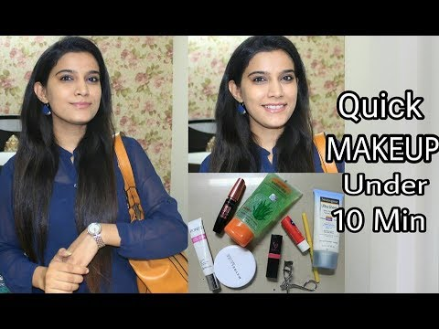 How To Office Makeup Under 10 Minutes | Quick everyday Makeup Look
