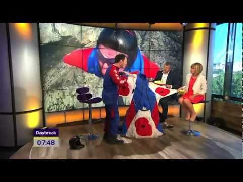 Jump4Heroes Wingsuit BASE Jumping on TV   ITV Daybreak