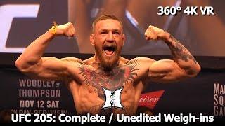 (360° 4K / VR) UFC 205 Full Card Weigh-In + Bonus Nunes / Rousey Staredown