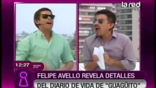 Felipe Avello lee el diario íntimo de Michael Roldán