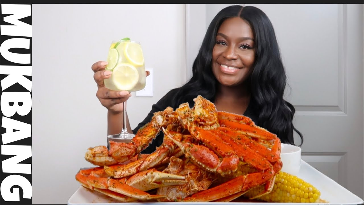 GIANT 2X SPICY CRAB LEGS + SEAFOOD BOIL MUKBANG   STORYTIME