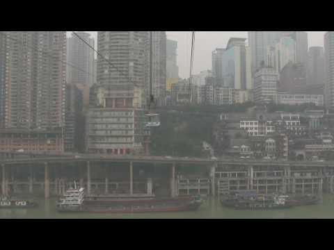 Cable Car Ride Chongqing Part 2 - Jialing River