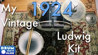 My 1924 Vintage Ludwig Drum Set! | Drum Beats Online