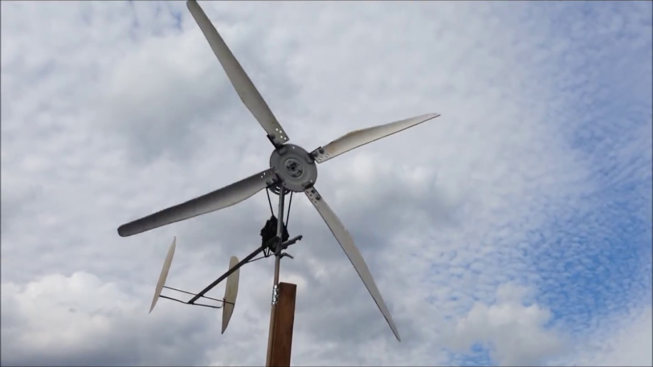 Diy Wind Turbine Car Alternator Windmill Pvc Blades Youtube