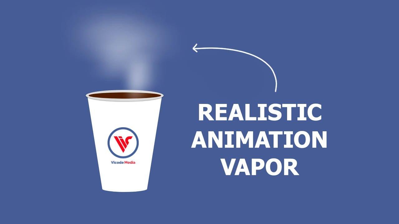 Animated Hot Coffee Vapor | HTML CSS