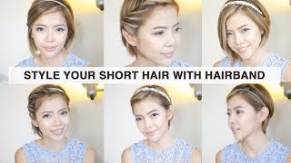 Style your short hair with hairband | 6 種短髮造型教學 - 髮帶篇 | Pieces of C主播
