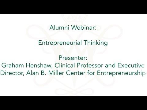 Alumni Webinar: Entrepreneurial Thinking