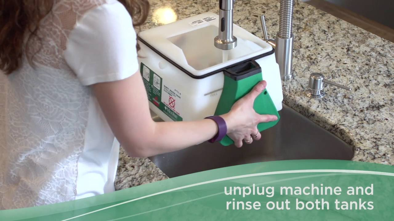 How To Use Bissell Big Green Carpet Cleaner Rent Bissell
