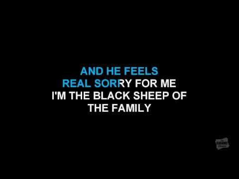 Black Sheep in the style of John Anderson karaoke video