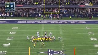 Crosby kicks a 51-yard Field Goal - Green Bay Packers vs Dallas Cowboys - NFL Playoff Divisional