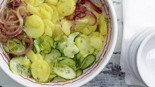 Картофельный салат по-немецки рецепт.  Уксусная заправка для салата.