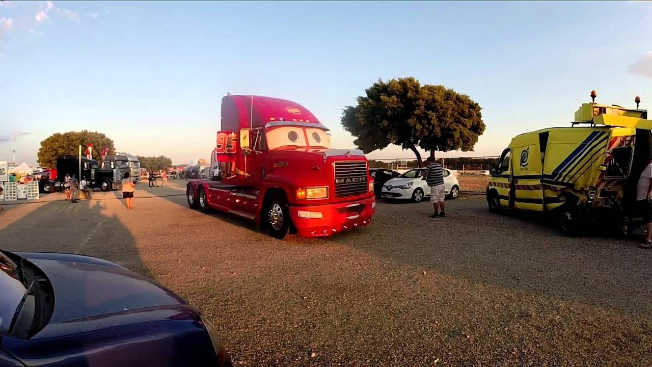 Mack le camion de flash mcqueen au castellet youtube - Flash mcqueen et mack ...