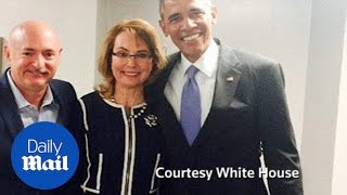 Obama meets with Gabby Giffords during Arizona visit - Daily Mail