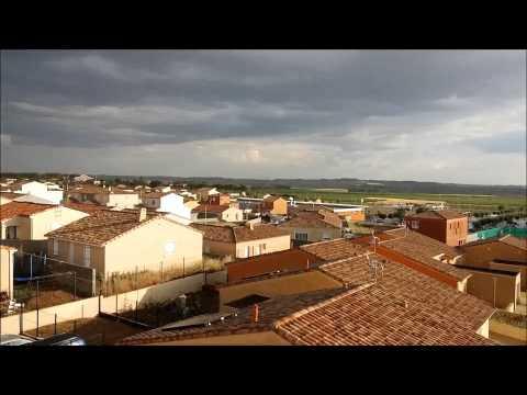 Averse orageuse à Thézan-lès-Béziers (Hérault - France) le 17/06/14