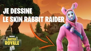 JE DESSINE LE SKIN RABBIT RAIDER DE FORTNITE !