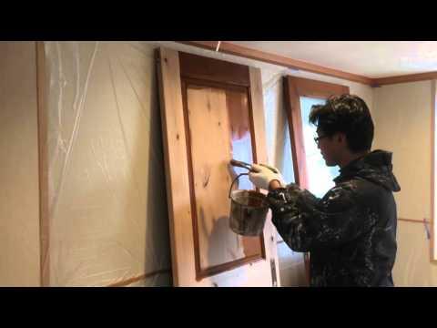 オイルステイン 建具 春日井市の外壁塗装ならレインボーペイント
