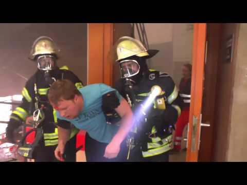Brandschutzübung an der Universität Stuttgart