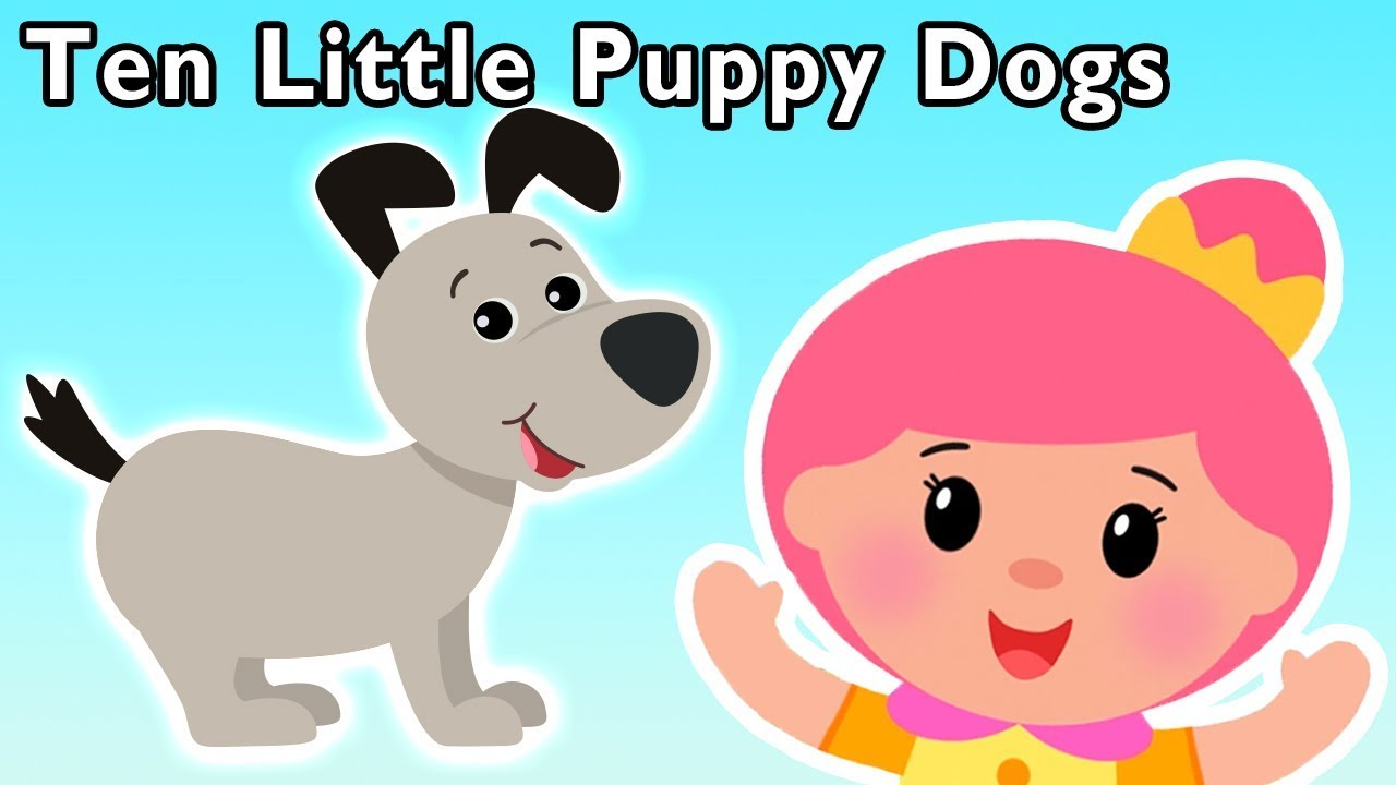 Ten Little Puppy Dogs And More New Cute Dogs Song Nursery Rhymes