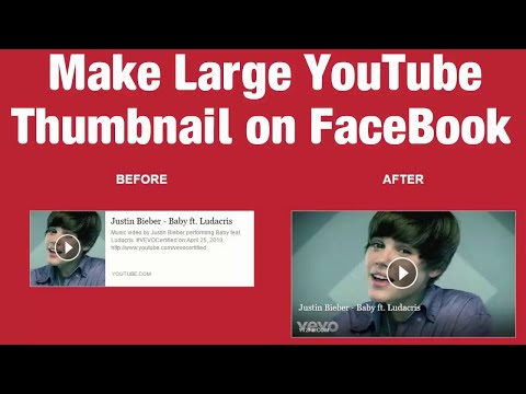 💻How To Make Large Youtube Thumbnail On Facebook   Hindi Video