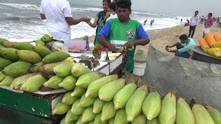 People Eating & Enjoying | Best Indian Street Food | Chennai Marina Beach (Tamil Nadu India )