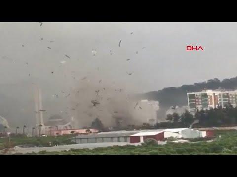 Heftige Wirbelstürme in Antalya