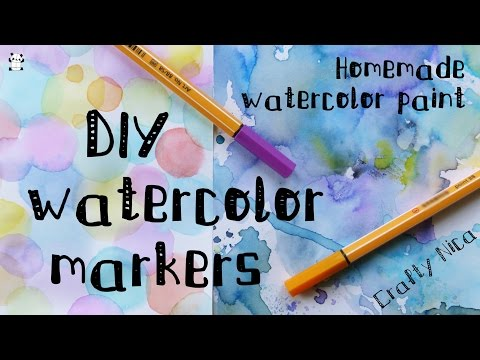 DIY: WATERCOLOR PAINT with MARKERS. How to make WATERCOLOR paint + DECORATIVE PAPER IDEAS from YouTube · Duration:  2 minutes 59 seconds