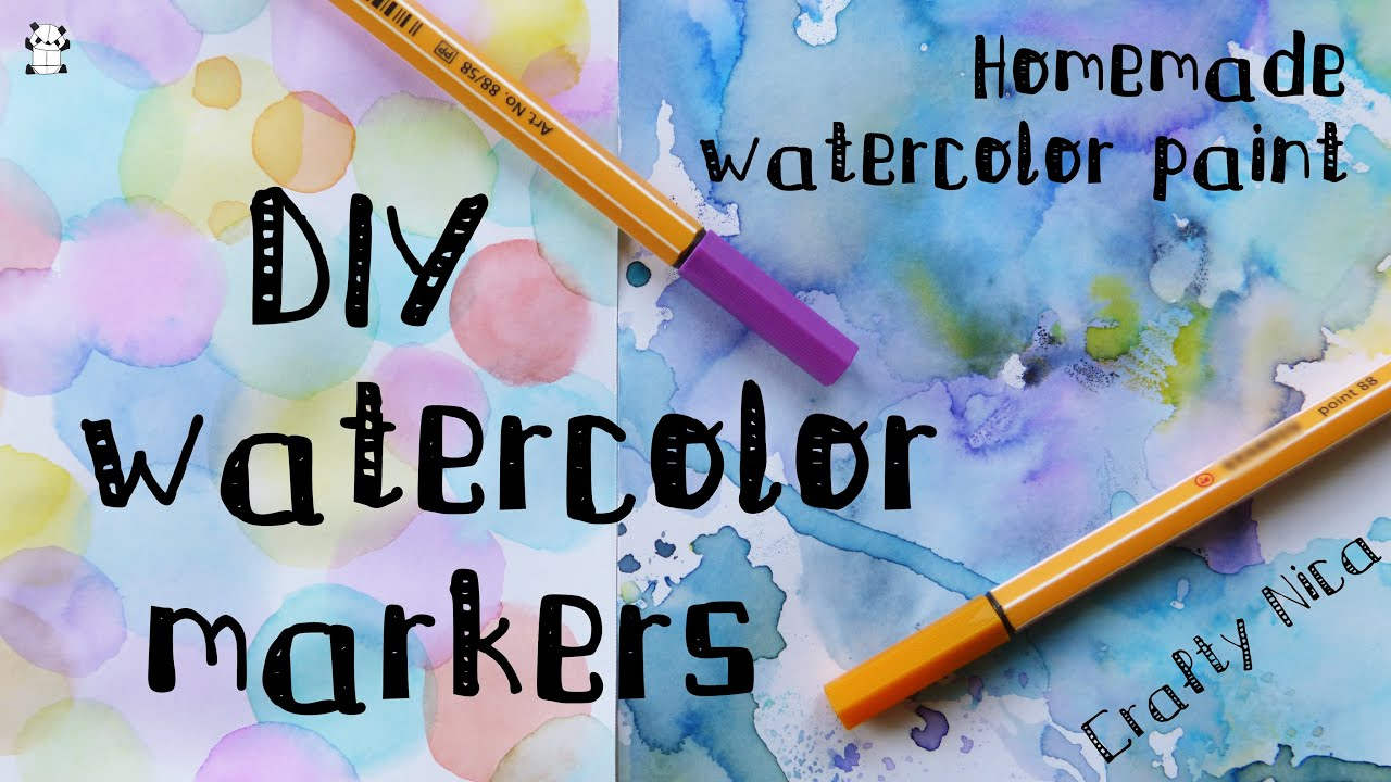 DIY Homemade WATERCOLOR MARKERS How To Make WATERCOLOR