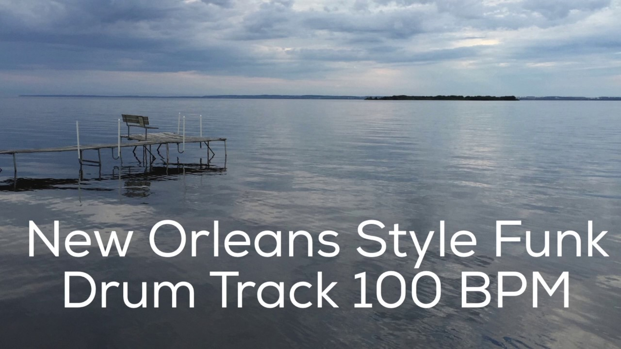 New Orleans Style Funk Drum Track 100 BPM