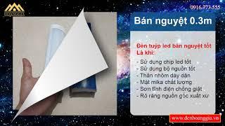 Thông số và Ảnh   Đèn tuýp led bán nguyệt 0.6m 18w siêu sáng