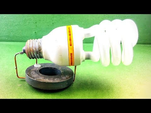DIY Electronic Free Energy Generator Science Project Self Running Using DC Motor With Light bulb