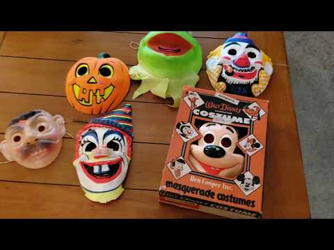 Estate Sale Haul - Halloween Masks, Mickey Mouse Costume, Wrapping Paper