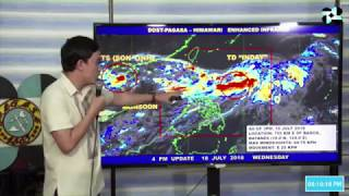 Pagasa 5 p.m. weather update: Tropical Depression 'Inday'