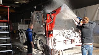 ProNano small Mercedes Truck Cleaning | Touchless Truckwash