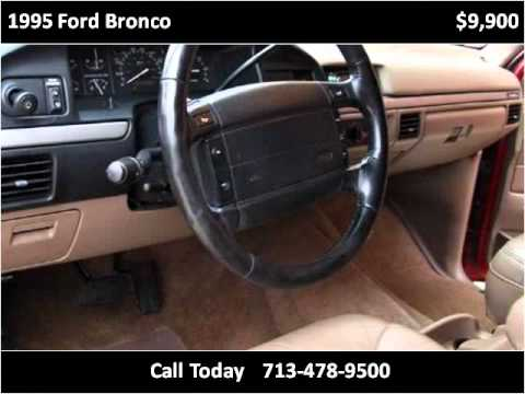 1995 Ford Bronco Used Cars Houston Tx Youtube