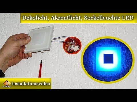 Installation Dekolicht, Akzentlicht, Sockelleuchte /  Sun LED