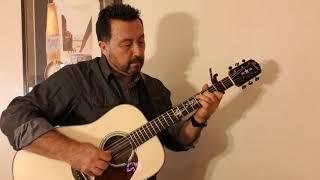 tears in heaven (e. clapton/k. valleau) fingerstyle cover on a custom pimentel dreadnought guitar
