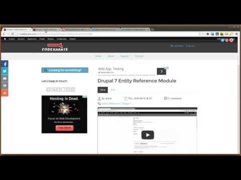 Using Views with the Entity Reference module in Drupal 7 - Daily Dose of Drupal episode 151