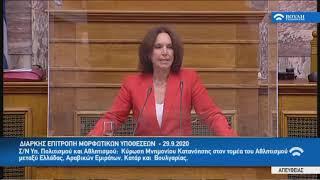 2020.09.29 •Ομιλία στην Διαρκή Επιτροπή Μορφωτικών Υποθέσεων για τις κυρώσεις διεθνών συμβάσεων