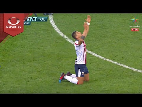 Gol de Alan Pulido | Chivas 1 - 0 Toluca | Clausura 2019 - Jornada 3 | Televisa Deportes