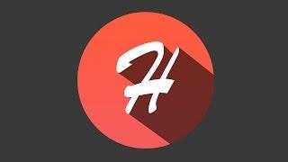 Wie Erstellen logo Flache Schatten in Photoshop CS6: Alphabet H-Logo-Design-Tutorials