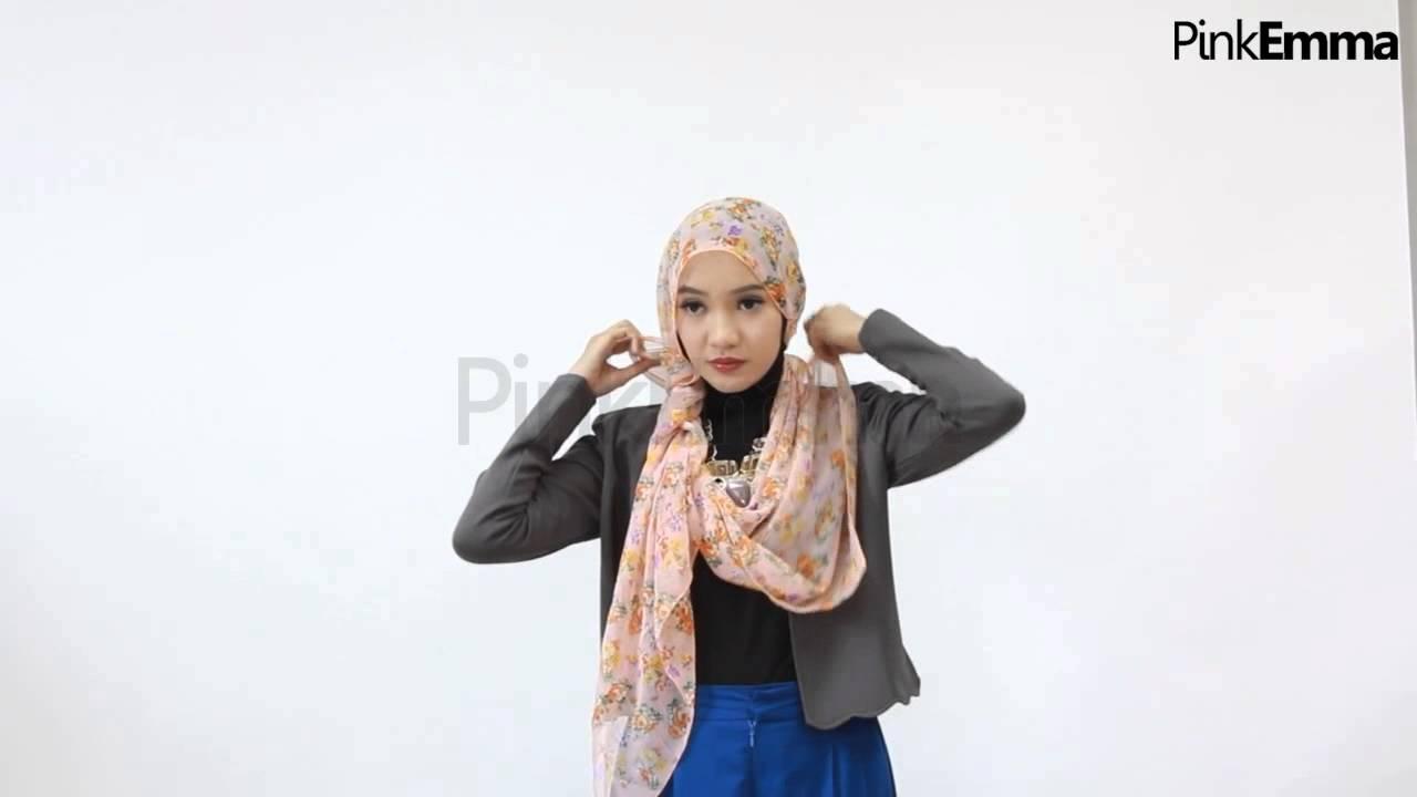 Tutorial Hijab Segi Empat Stylish Untuk Ke Kantor YouTube