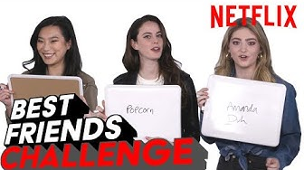 Spinning Out Cast Best Friends Challenge   Netflix