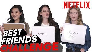 Spinning Out Cast Best Friends Challenge | Netflix
