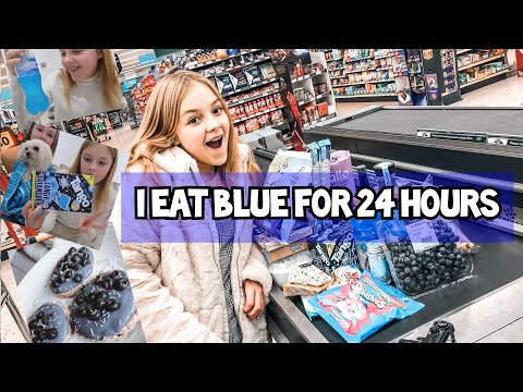 Eating Everything Blue For 24 Hours!!!