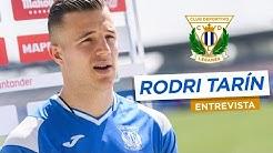 El jugador del C.D. Leganés RODRI TARÍN responde a los periodistas
